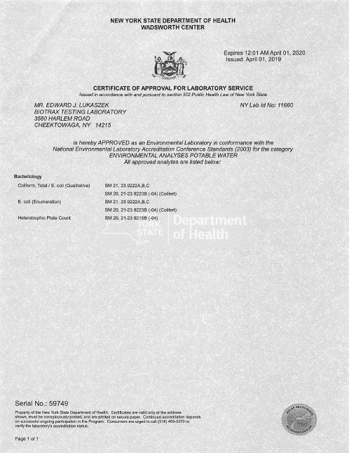 ELAP Certificate